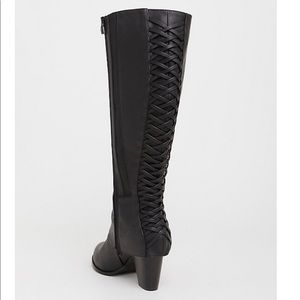 Torrid Black Lattice Knee Boot 🆕